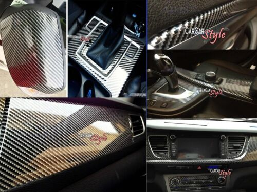 Wrap Film Sticker 29.5in 【AirFree】2D Gloss Carbon Fibre Vinyl 0.5m x0.75m 19.7in