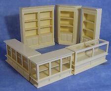 1:12 SCALA 6 PEZZI CREMA Shop Set Casa Delle Bambole Mobili In Miniatura Accessorio 1134