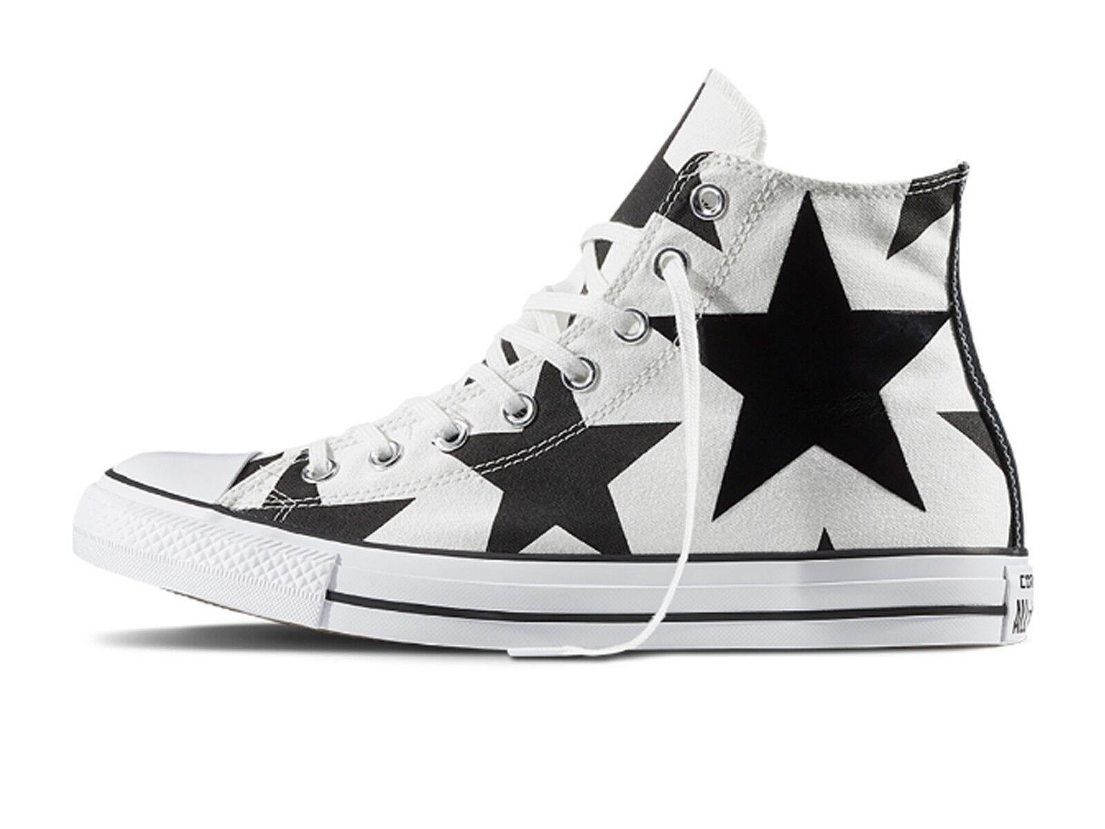 zapatos UNISEX CONVERSE  156812C 156812C 156812C  ALL STAR HI CANVAS PRINT blanco negro BIG STAR  saludable