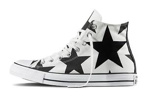 SCARPE-UNISEX-CONVERSE-156812C-ALL-STAR-HI-CANVAS-PRINT-WHITE-BLACK-BIG-STAR