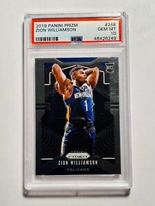 2019-20-Panini-Prizm-248-Zion-Williamson-New-Orleans-Pelicans-RC-Rookie-PSA-10