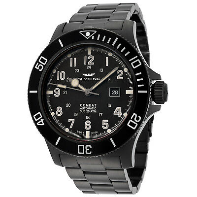 Glycine Men's 3951.959AT.N1.MB9 Combat Sub Automatic 48mm Black PVD - GL0096