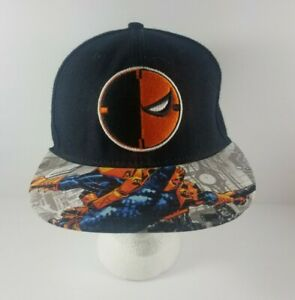 DC-Comics-Deathstroke-Black-Orange-SnapBack-Hat-Cap-Adjustable-RN-115665