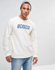 WeSC 99 Roman Crew Loop Back Sweatshirt XS BNWT RRP £60 Winter White Uk Freepost