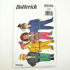 3045 Butterick Sewing Pattern Boys Girls Loose Fitting Jacket Pants Hat Size 5 6 6X