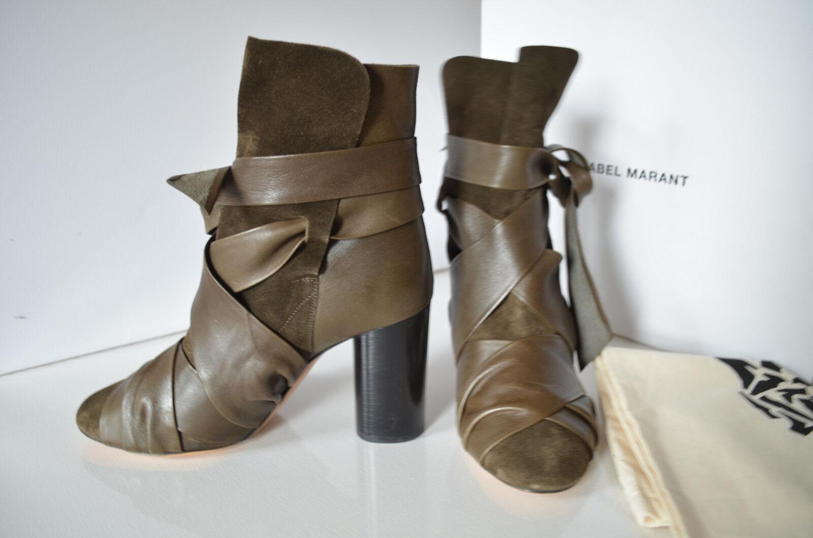 ISABELL MARANT Weihnachts Weihnachts Weihnachts Geschenk ankle Stiefel Stiefeletten Leder Gr 40 Neu 624a4f