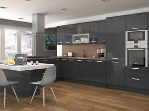 Details About Delight Glossy Gray Modern Kitchen Cabinets As Lowest Price