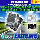 NARVA 54431 FUSE BLOCK HOLDER BOX CARAVAN MARINE DUAL BATTERY VOLT 6 WAY 25 AMP
