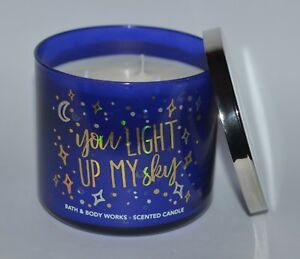 BATH-BODY-WORKS-YOU-LIGHT-UP-MY-SKY-CANDLE-3-WICK-14-5OZ-LARGE-LAVENDER-VANILLA