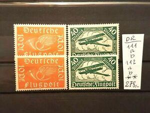 LUXUS Briefmarken Deutsches Reich Mi.Nr.: 111 a+b und 112 a+b.Postfrisch.KW 278?