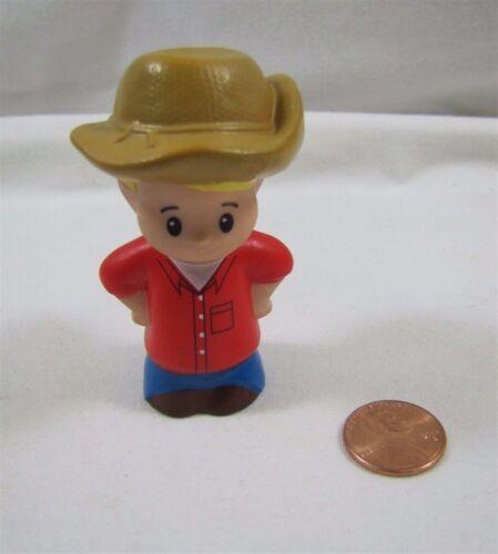 Fisher Price Little People EDDIE Blonde Boy RANCHER COWBOY FARMER for FARM Rare