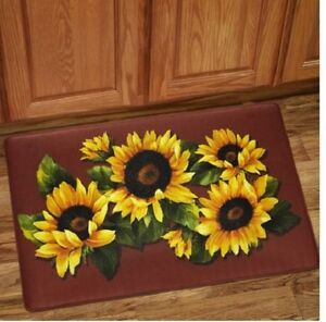 Ordinaire Image Is Loading Anti Fatigue Sunflower Kitchen Mat Memory Foam Rug