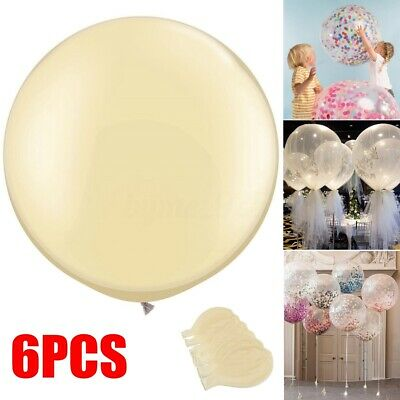 US 6Pcs Clear 36/'/' Large Giant Latex Big Oval Balloon Wedding Party
