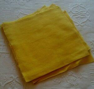 Set-of-Eleven-Fat-Quarters-Fabric-Antique-Cotton-Grained-Yellow-58-x-58-cm-Each