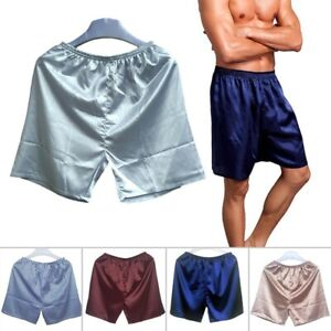 Herren Nachtwäsche Shorts Pyjama Seidensatin Homewear Shorts  JO