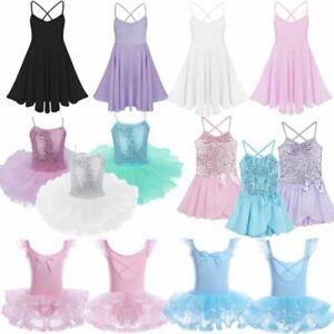 Toddler-Girls-Gymnastics-Leotard-Dress-Ballet-Dance-Tutu-Skirt-Dancewear-Costume