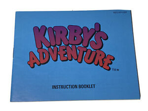 Kirby's Adventure NES Nintendo Original Instruction Manual Booklet Only