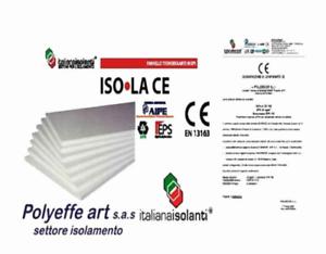 10PANNELLI IN POLISTIROLO ISOLAMENTO TERMICO CAPPOTTO eps 100 CM 100x50 x 3