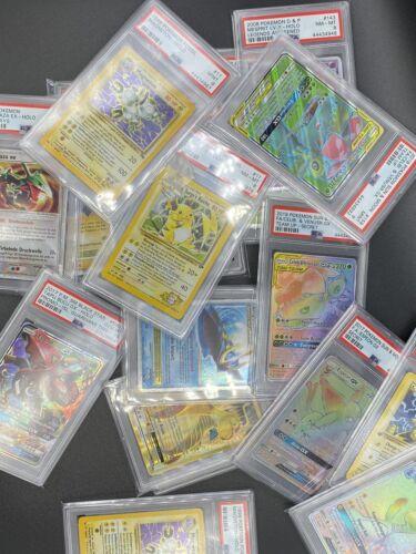 WOTC 1X Mystery PSA Graded Pokemon Card Full Art,GX,Promos,Holos,