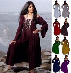 Mexican Boho Dress - Peasant Ruffled Empire Line - LotusTraders V989 ...