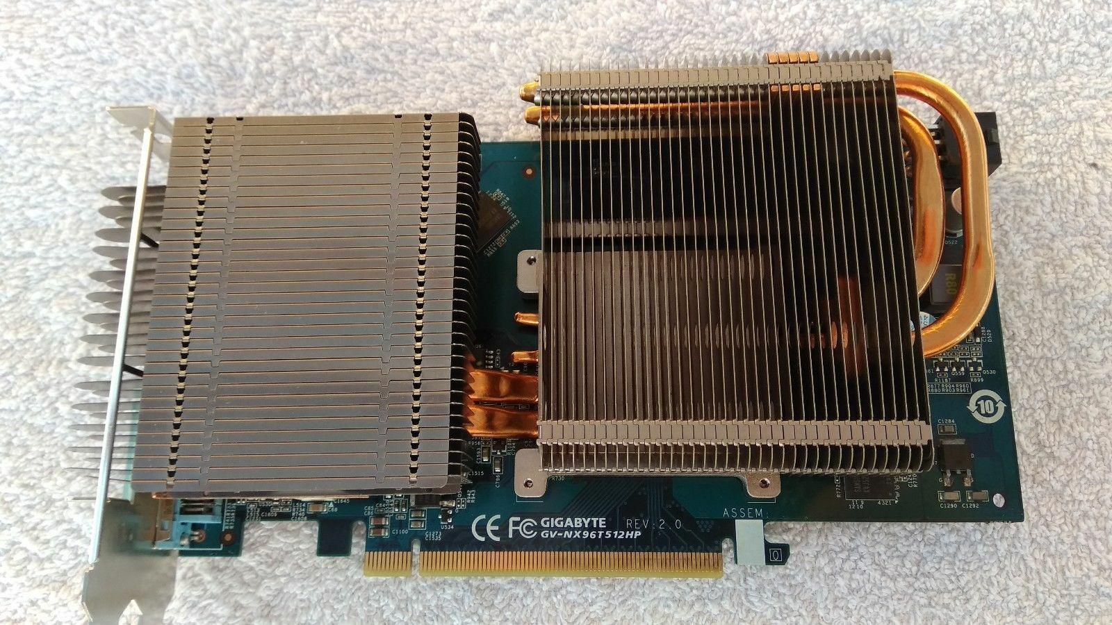Gigabyte GV-NX96T512HP NVIDIA GeForce 9600 GT 512MB GDDR3 Fanless Cooling GRA18