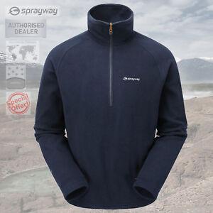 Sprayway-Mens-Santiago-Fleece-Pullover-Top-Pullover-1-2-Zip-New-RRP-35-00