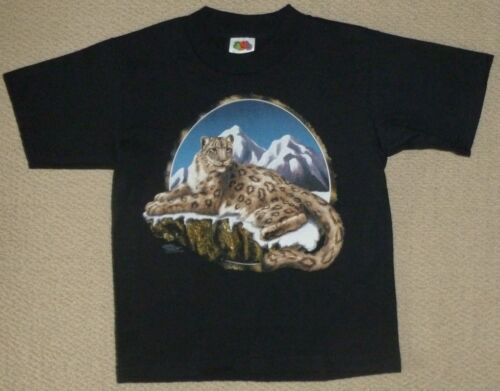 Big Cat T-shirt Youth S M L New Nature Snow Leopard Kitty Kitten Museum Store