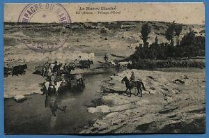 CPA MAROC- En colonne - Passage d'Oued - 1914 RCNESOzp-09154506-441061860