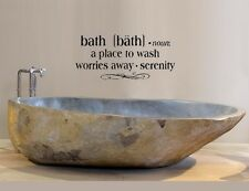 """BATH Bathroom Words Decor Wall Decal Lettering Sticky Quote Sticker 24"""""""