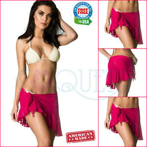 9d7f782049 Image is loading Coqueta-Sarong-Pareo-Canga-Swimsuit-Wrap-Chiffon-Spandex-