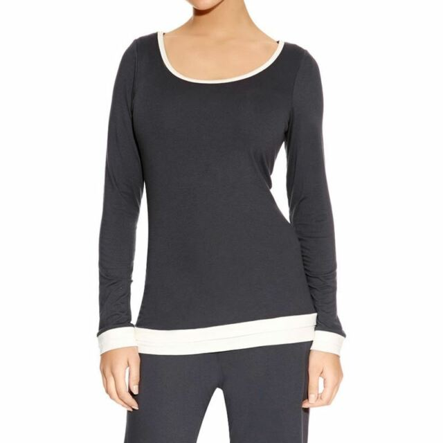 3ff9b633709 Freya Sweet Dreams Pyjama Top 4835 Long Sleeve Loungewear - Charcoal ...