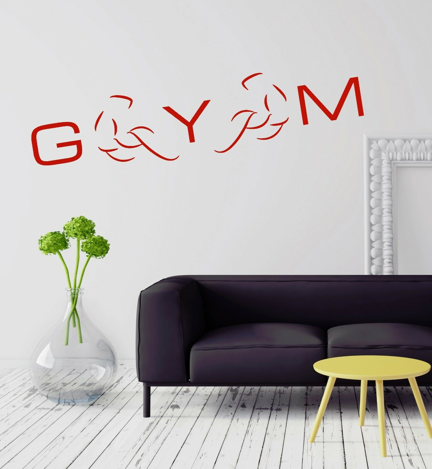 Wall Vinyl Sticker Decal Gym Fitness Muscled Bodybuilding Sports Decor (ig2084)