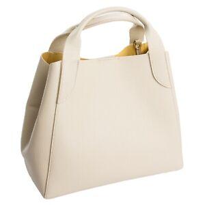 Ital-design-Ledertasche-Tote-Bowling-Bag-Satchel-Handtasche-ECHT-LEDER-Beige105B
