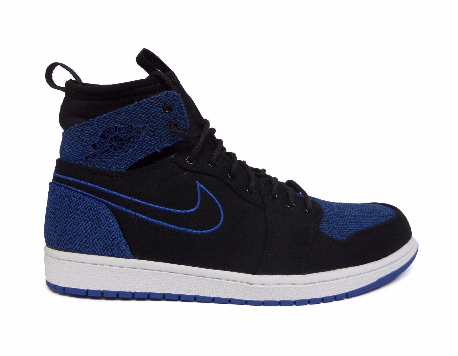 Nike Men's Air Jordan 1 RETRO ULTRA HIGH Shoes Black/Sport Royal 844700-007 a Special limited time