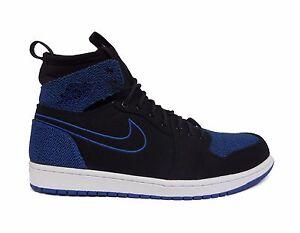 d91c9398b7bdc4 Nike Men s Air Jordan 1 RETRO ULTRA HIGH Shoes Black Sport Royal ...