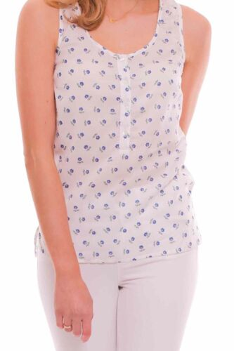 *New* Jack Wills Floral White Top Sleeveless Blouse ~ Size 8