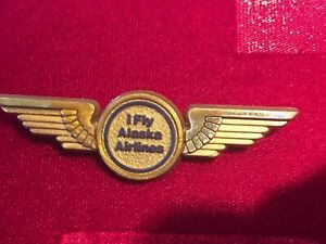 Vintage-Alaska-Airlines-Pilot-Wings-Plastic-Promo-Advertising-1980s-USA-made-NY