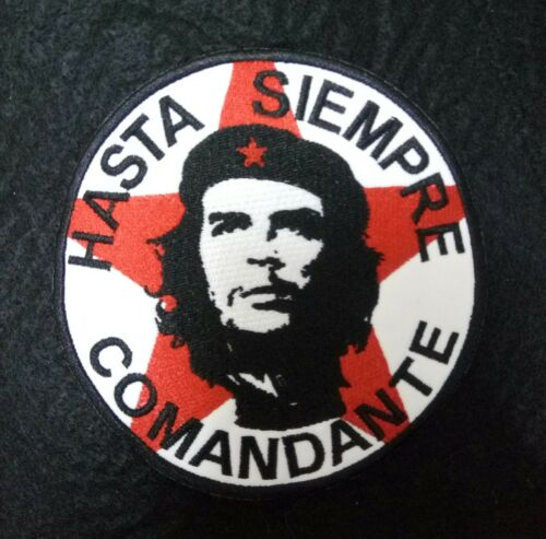 HIGH QUALITY ★ CHE GUEVARA ★ HASTA SIEMPRE COMANDANTE EMBROIDERY SEW ON PATCH
