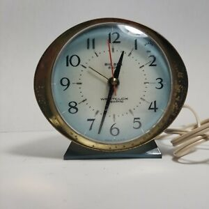 Vintage alarm clock Century Westclox Electric Big Ben  blue gold tested