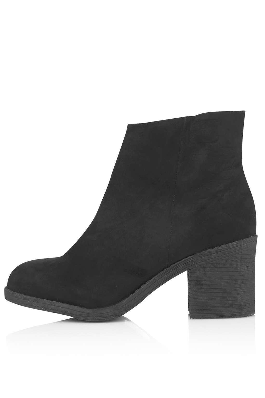 Topshop BIP Zip Micro Boots - Black - UK 8/EU 41/US 10.5 - RRP £39 - New