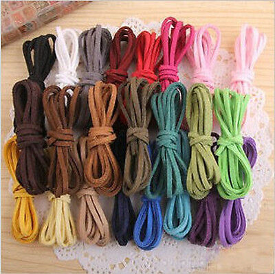 2.5mm Mixed soft Suede Lace Cord Velvet Thread Diy Bracelet Necklace Making x5M