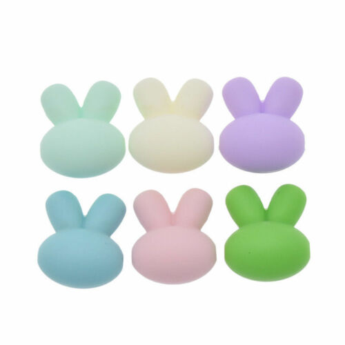Cute Rabbit Silicone Nursing Beads For Teething Necklace Baby Teether Making DIY