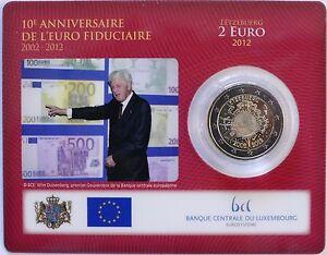 2 Euro Commémorative de Luxembourg 2012 Brillant Universel (BU) - 10 Ans de l'€