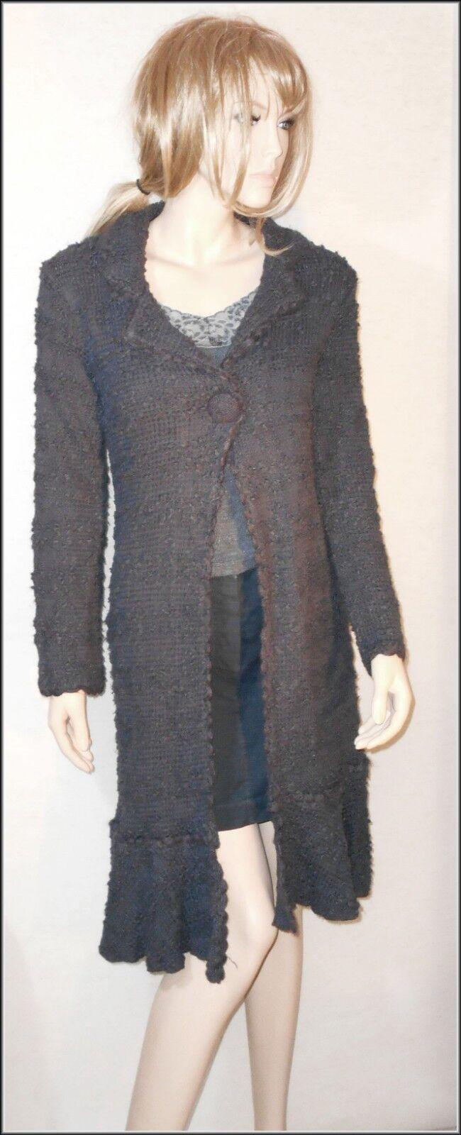 Monsoon Women's  Knitted Button Long Sleeve Long Cardigan size