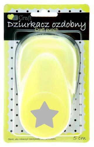 Großer Motivlocher Stanzer Punch 5 cm Star Stern Kreativ Basteln Dekorieren