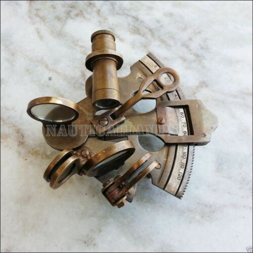 4 Inch SEXTANT Maritime Astrolabe Marine Ships Nautical Instrument Sextant Gift