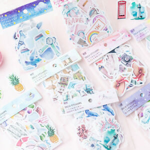 Scrapbooking-Diary-Label-Decorative-Stickers-Paper-Sticker-Adhesive-Paper-Flake