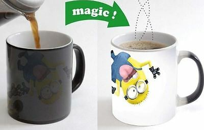 Crazy Minions Color Changing Magic Heat sensitive Tea Cup Coffee Mug gift 75