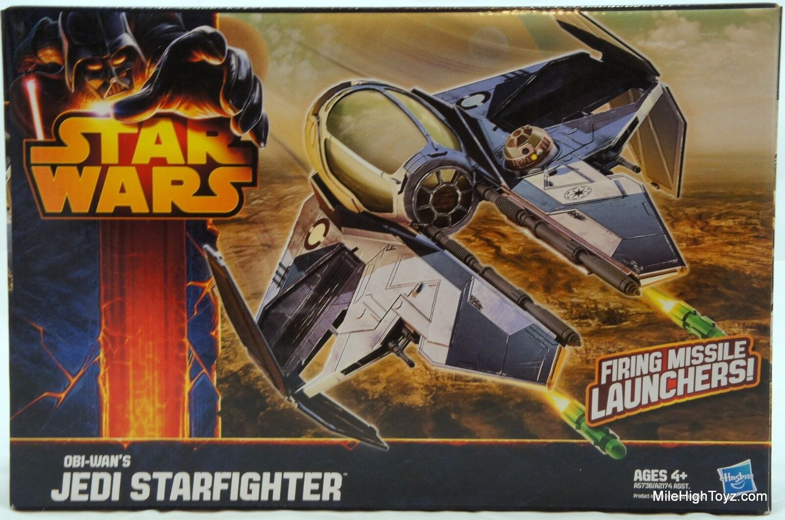 Star Wars rossoS Obi-Wan Jedi Starfighter Vehicle Class II with Missile Launcher