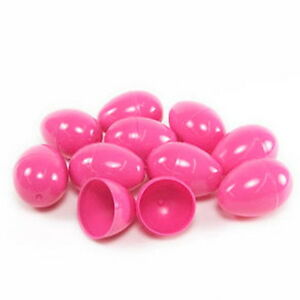 24 EMPTY PINK PLASTIC EASTER VENDING EGGS 2.25 INCH, BEST PRICE, FASTEST SHIP!!